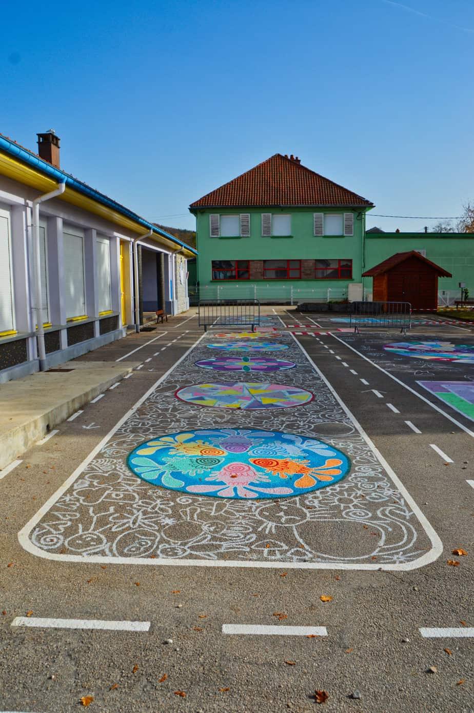 Fresque école du Petit Prince Granges-Aumontzey