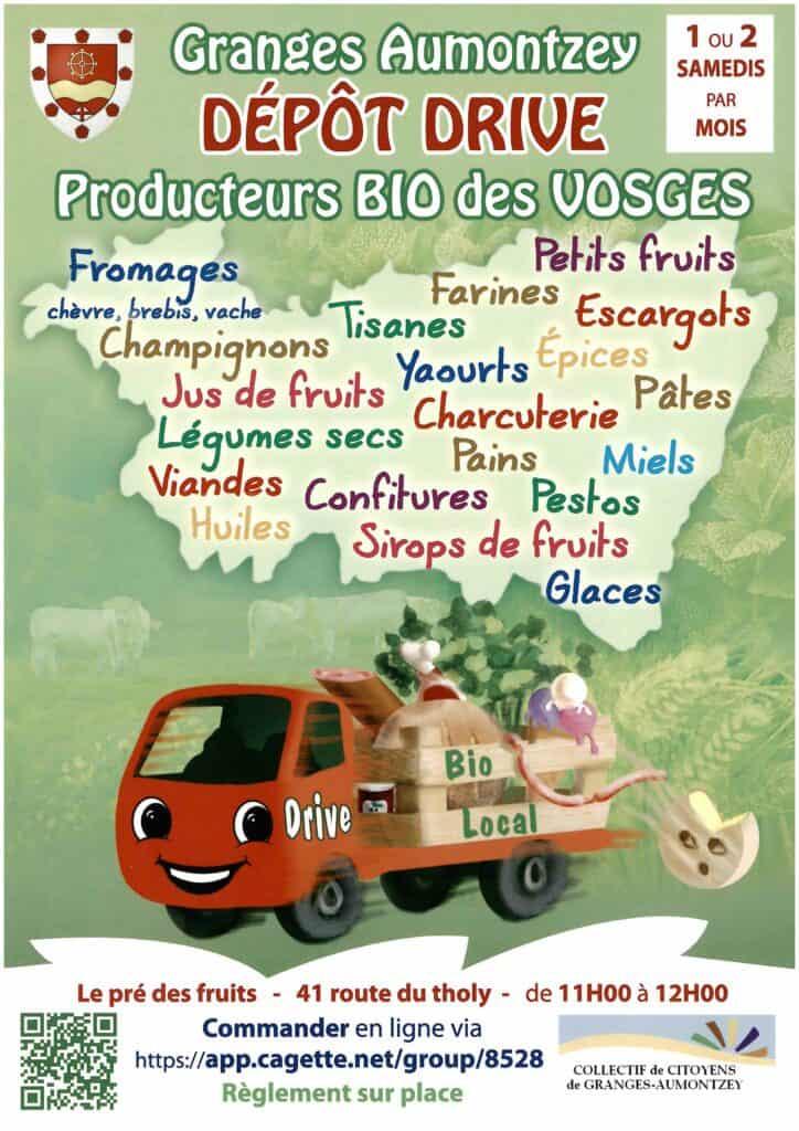 Marché drive producteurs locaux Granges-Aumontzey