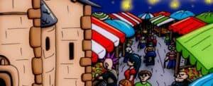 Marché nocturne Granges-Aumontzey_Banderolle