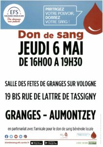 Affiche don du sang_Granges-Aumontzey