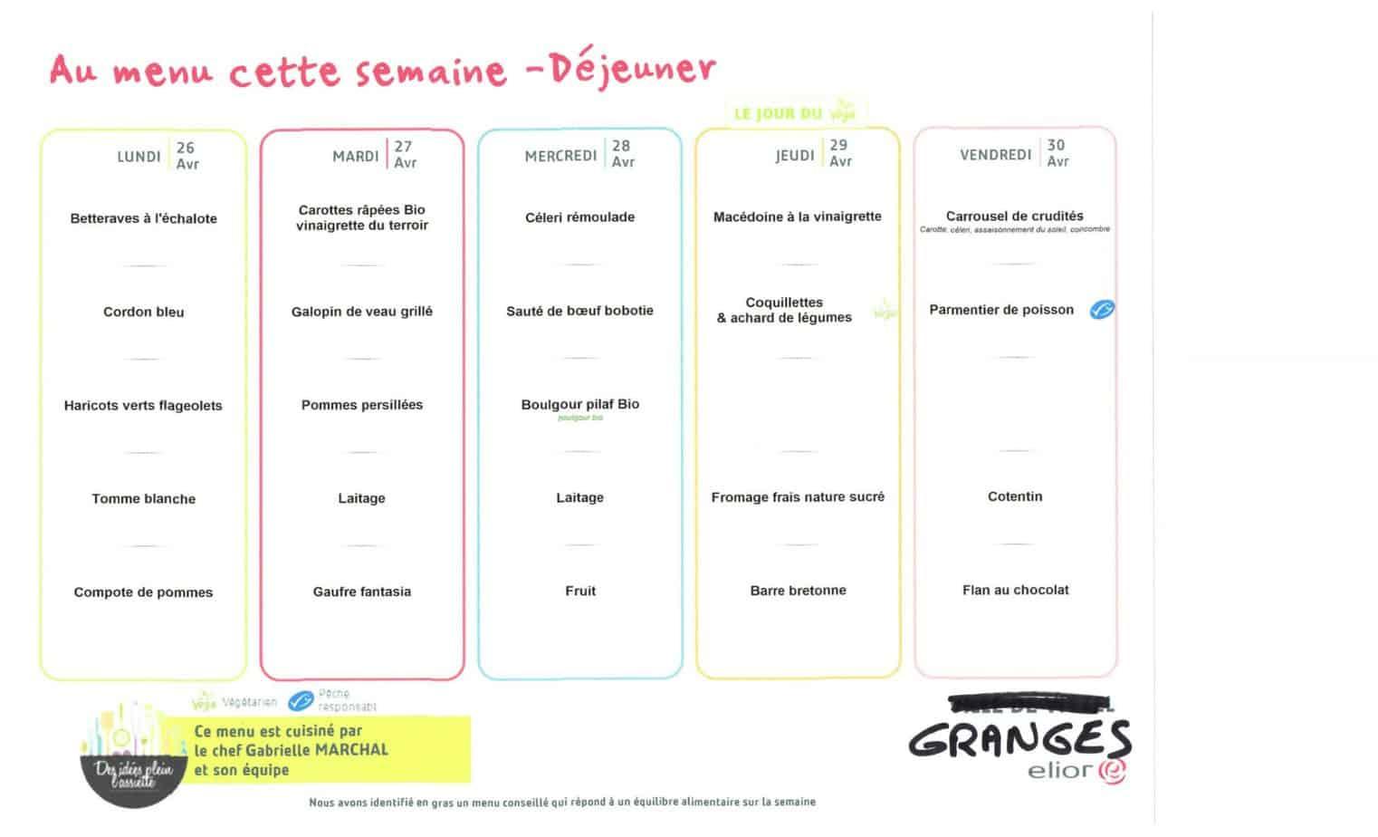 Menu cantine scolaire_Granges-Aumontzey