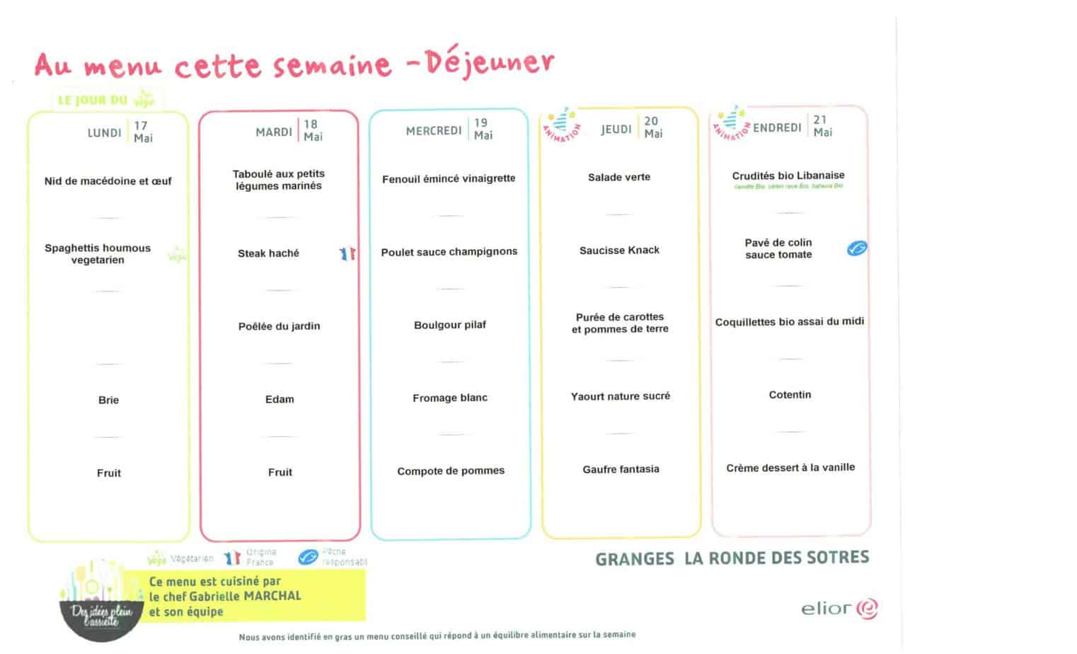 Menu du 17-05 au 21-05-Granges-Aumontzey