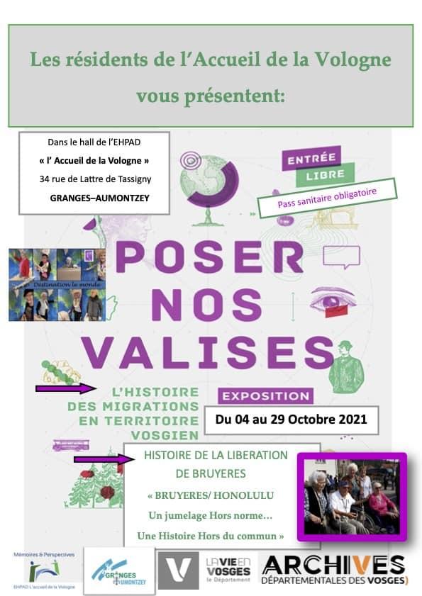 AFFICHE EXPO ACCUEIL DE LA VOLOGNE_Granges-Aumontzey